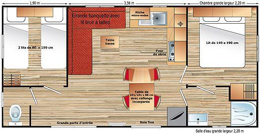Chalet comfort 4 personen voor een comfortabele strandvakantie - Chalet comfort 4 personen