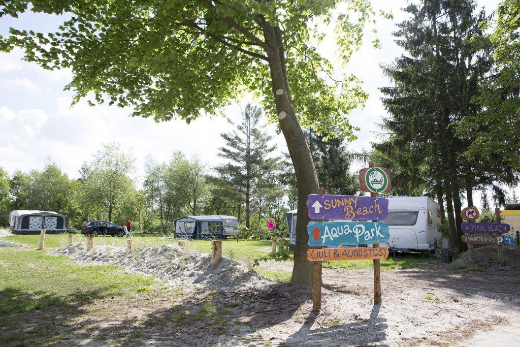 Comfort kampeerplaats op ANWB 5 sterren camping - Comfort kampeerplaats