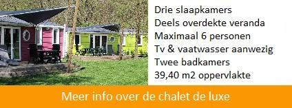 Chalet de luxe op vakantiepark het Stoetenslagh